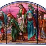 Gli Otto Santi in una vetrata per la Chiesa di S. Rocco. Il 27/10 la benedizione.