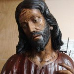 Le foto delle fasi del restauro del Cristo al Calvario