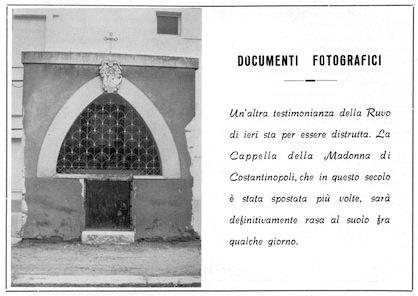 Cappellina abbattuta della Madonna di Costantinopoli