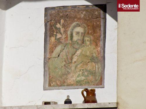 L'edicola di San Giuseppe in via Valle Noè