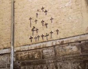 Le croci nei pressi di porta Nuova