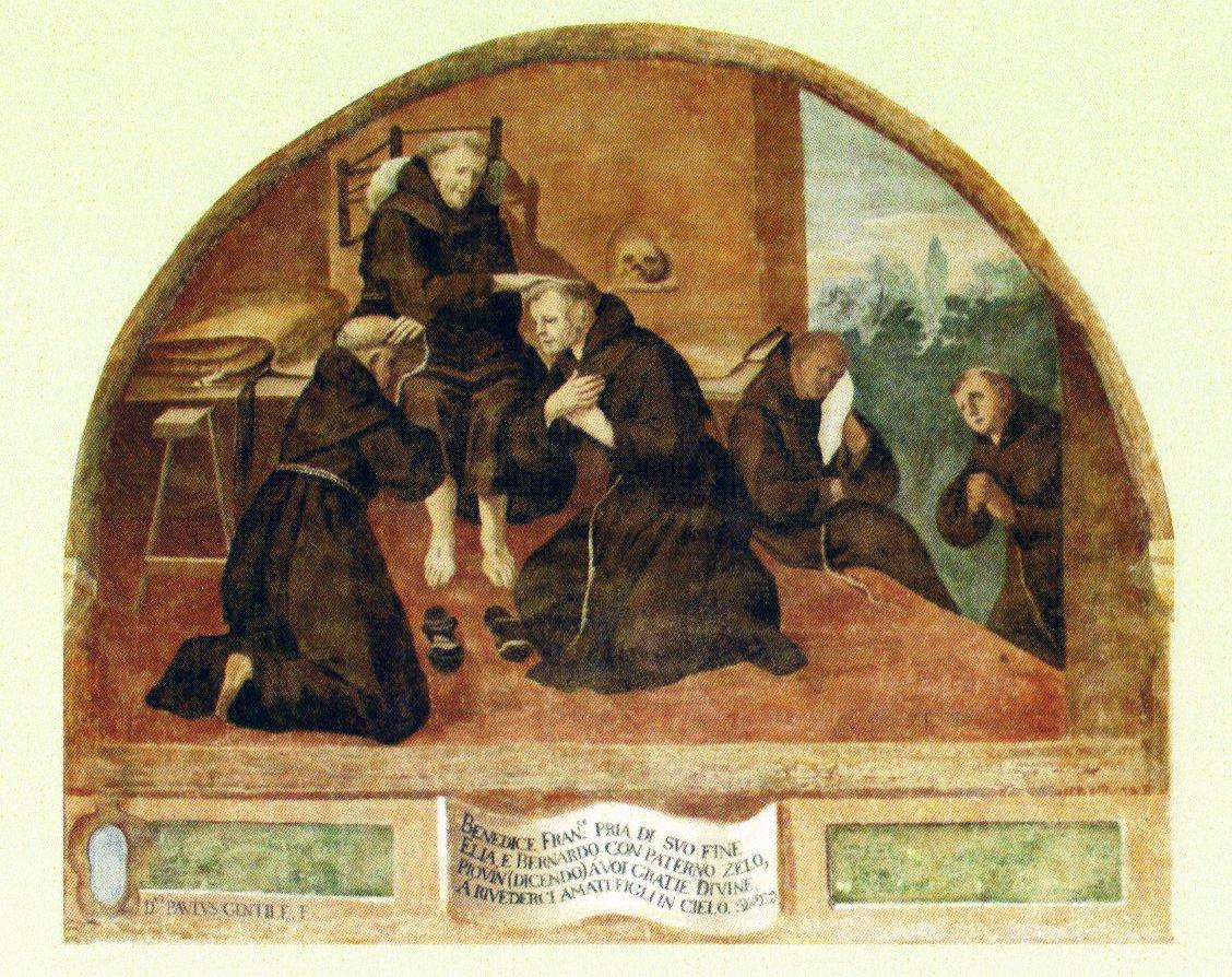 Lunetta affrescata, convento dei Minori Osservanti