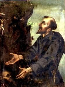 San Francesco contempla il Crocifisso, chiesa della Madonna delle Grazie