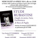 Studi Rubastini. Questa sera alle 19.00 presso Palazzo Caputi