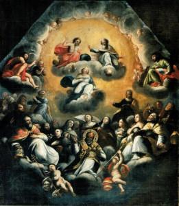 C. Rosa (attr.), Gloria della Vergine, chiesa della Madonna delle Grazie