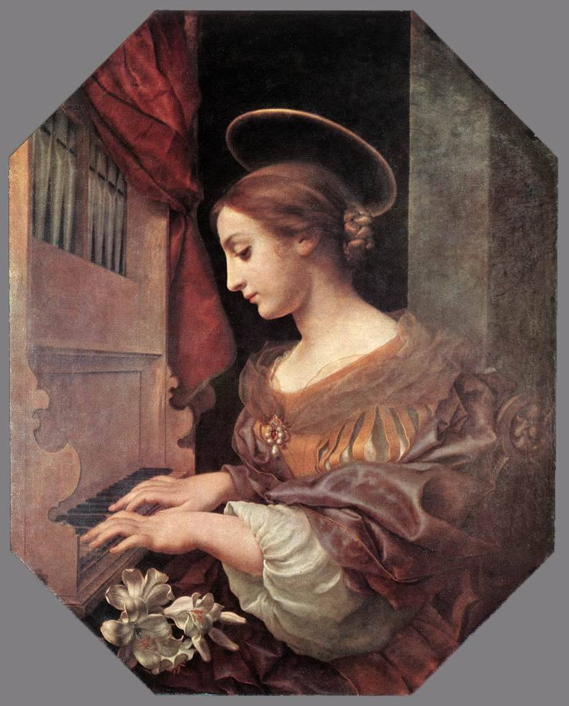 C. Dolci, S. Cecilia all'organo, 1671, Dresda, Gemäldegalerie