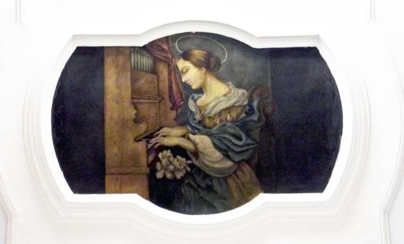 S. Cecilia suona l'organo, chiesa del Purgatorio, Ruvo di P.