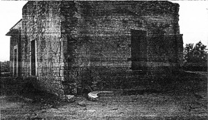 Muro laterale destro della navata (foto Cleto Bucci, 1989)