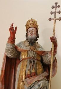 Statua di san Cleto, chiesa del Purgatorio