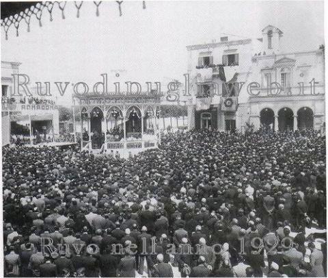 La festa nel 1929 - da Ruvodipugliaweb