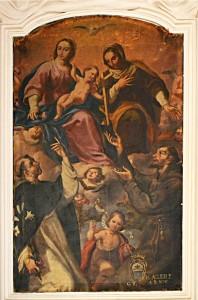 N. Gliri, Madonna col Bambino, sant'Anna e santi