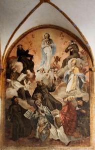 M. Capotorti, Immacolata e santi