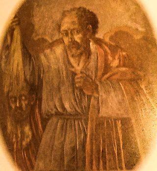 San Bartolomeo, affresco sulla volta della chiesa del Purgatorio