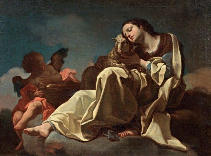 Corrado Giaquinto, S. Agnese o allegoria della mansuetudine, XVII - XVIII sec., collezione privata