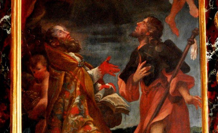 Lo Spirito Santo discende sui santi Cleto e Rocco. I patroni minori di Ruvo in una tela di Chiavari