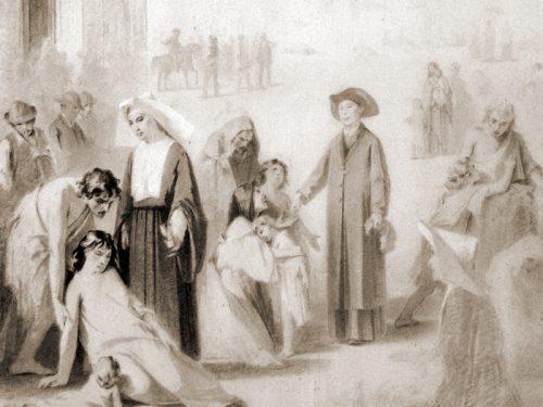 Il Colera a Ruvo del 1886 in un 'cartone' di Michele de Napoli