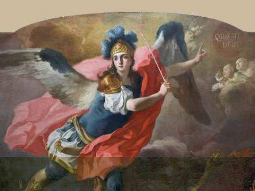 Bellezza e catechesi per immagini: restaurata la tela della Cacciata degli angeli ribelli della chiesa di Sant'Angelo